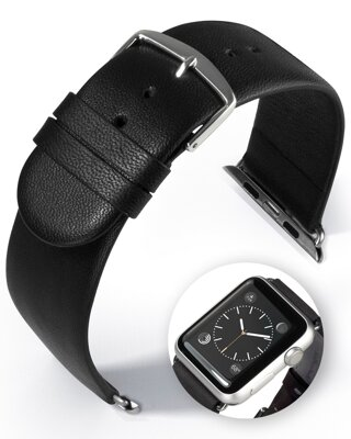 Detroit - Smart Apple Watch - black - leather strap