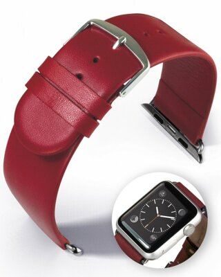 Detroit - Smart Apple Watch - red - leather strap