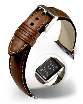 Miami - Smart Apple Watch - dark brown - leather strap