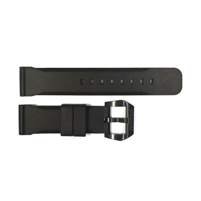 Steinhart Rubber strap 24 mm black with black Pre-V buckle