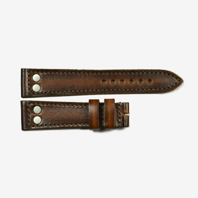 Steinhart Leather strap cognac with mat rivets size S