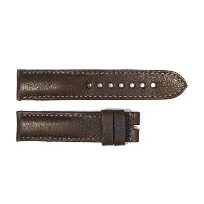 Steinhart strap dark brown with grey stitching size M