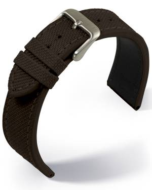 Eulit - Canvas- dark brown - textile strap