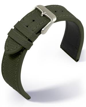 Eulit - Canvas- olive green - textile strap