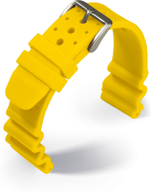 Eulit - Diver - yellow - silicone strap