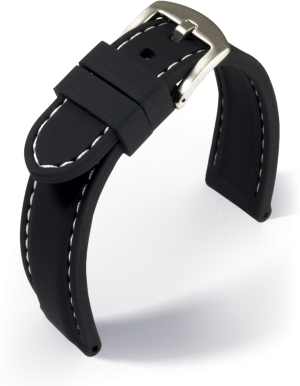 Eulit - Silicone with stitching - black - silicone strap