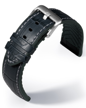 EUTec- Belize - black - leather/rubber strap