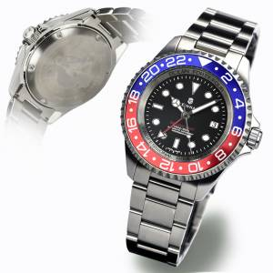 Steinhart OCEAN Forty Four GMT BLUE-RED